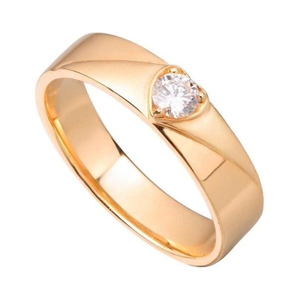 Nhẫn nữ vàng tây đính đá hình trái tim