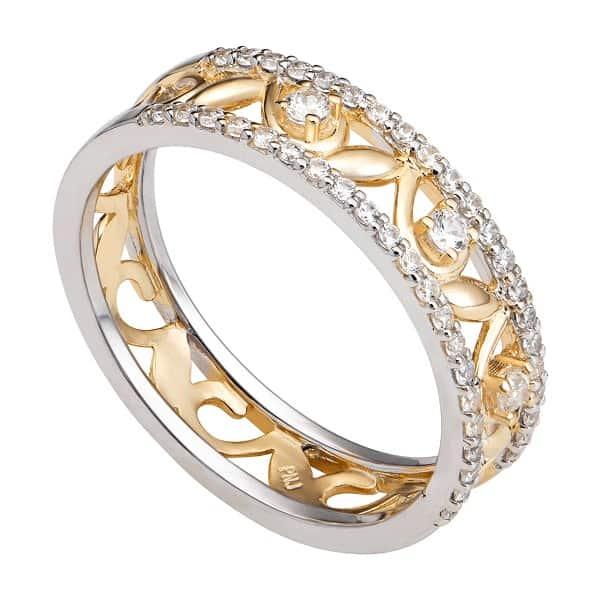 Nhẫn nữ vàng 14k tuy có hàm lượng vàng thấp hơn nhưng được sử dụng rất phổ biến để làm đồ trang sức