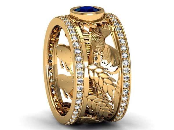 Nhẫn vàng 18k nam 1 chỉ đối với nam giới thích phong cách lịch lãm