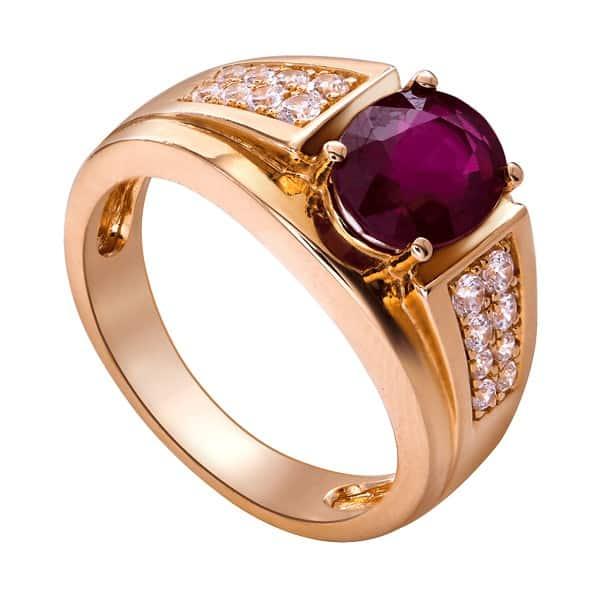 Mẫu nhẫn vàng 18k nữ kiểu đá Ruby