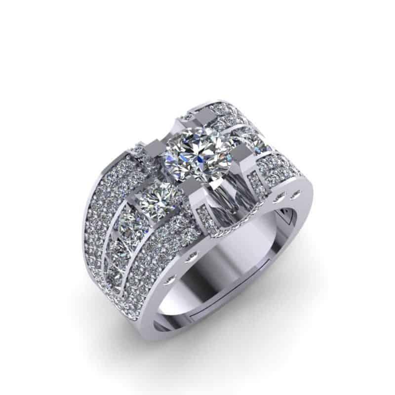 Nhẫn vàng nam mặt đá đối với nam giới thích sự cá tính, mạnh mẽ và nam tính