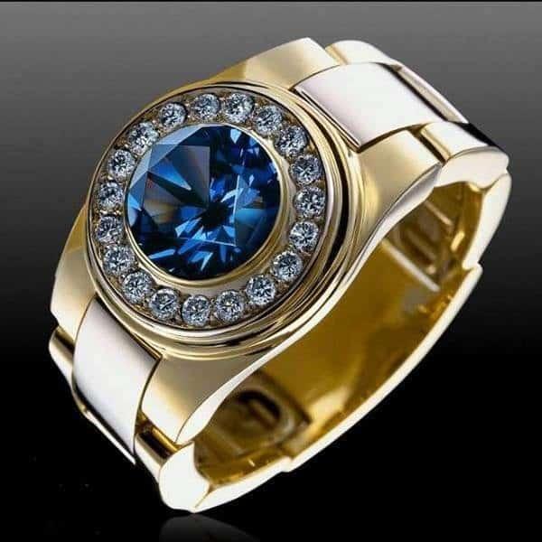 Nhẫn vàng nam phong thủy cho người mệnh Thủy