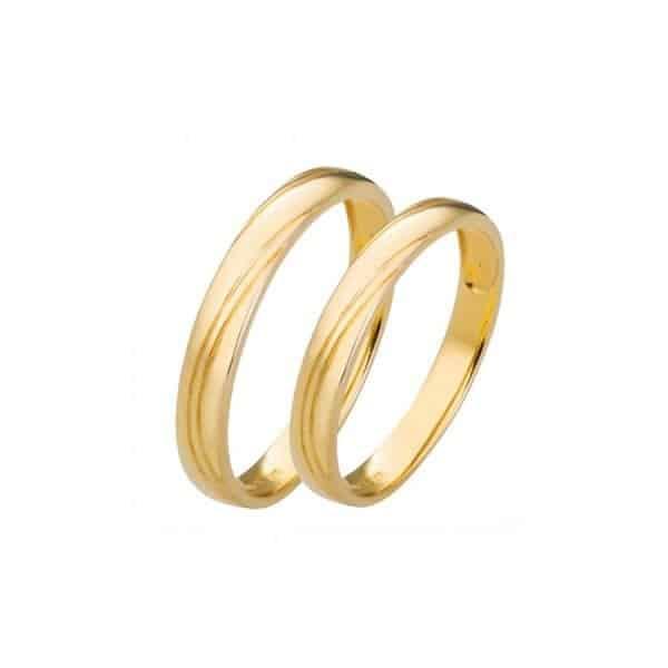 Nhẫn vàng nam trơn chất liệu vàng vàng