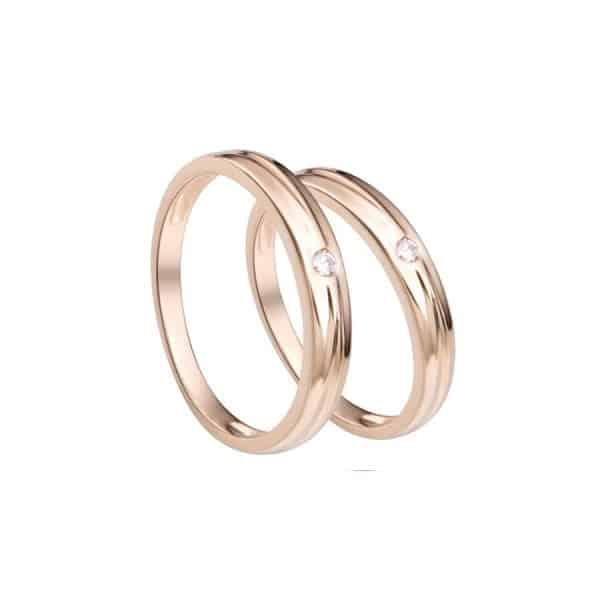Nhẫn vàng nam trơn chất liệu vàng hồng
