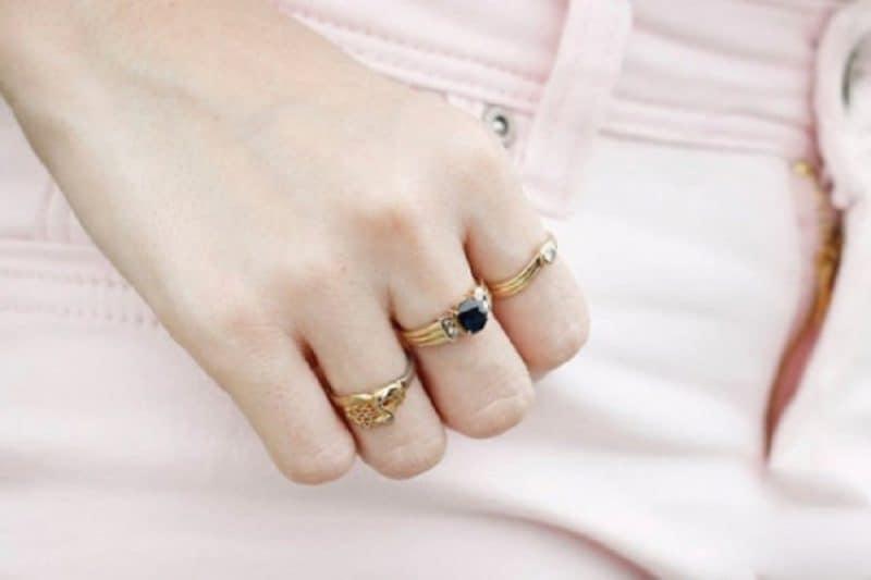 Đá Quý Kim Cương Spring D cung cấp nhẫn vàng tây nữ đơn giản