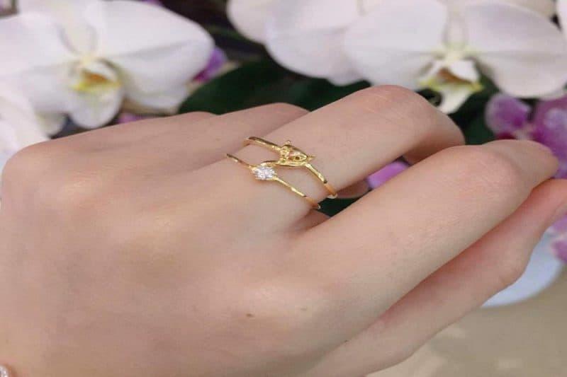 Nhẫn vàng tây nữ thời trang và những điều không nên bỏ qua