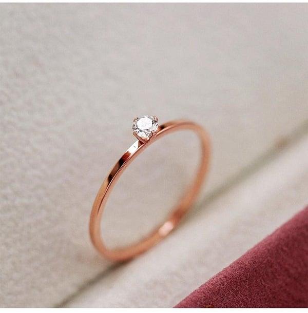 Nhẫn nữ vàng tây đơn giản