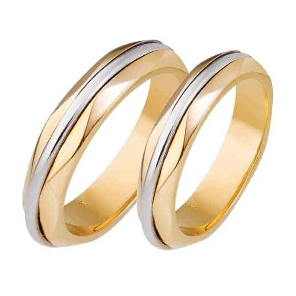 Mẫu nhẫn vàng trơn pha vàng trắng