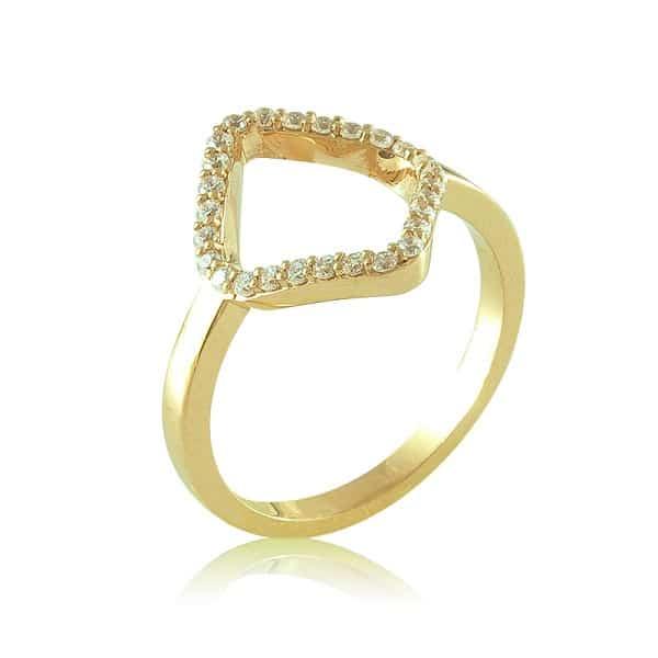 Kiểu nhẫn vàng nữ đẹp viền thoi