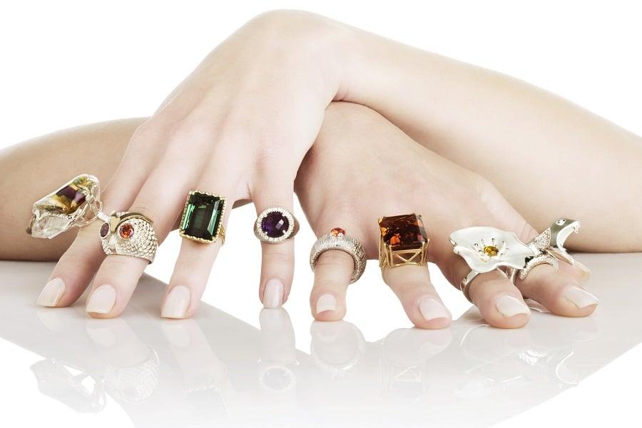 nhẫn kiểu nữ vàng 18k