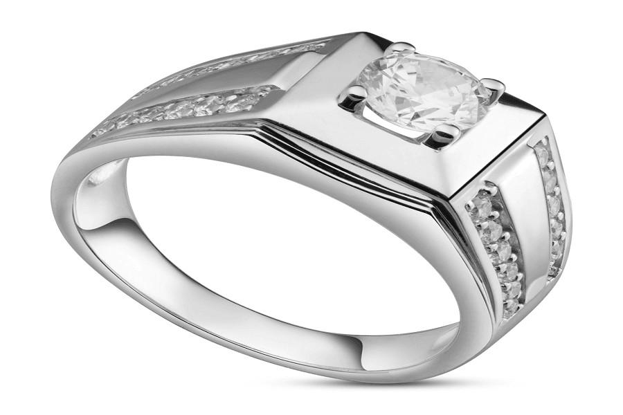 nhẫn vàng trắng nam đẹp