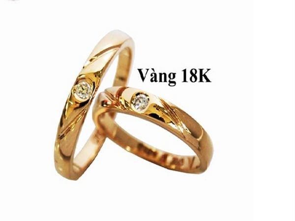 Nhẫn vàng nữ 18K được thiết kế tinh xảo