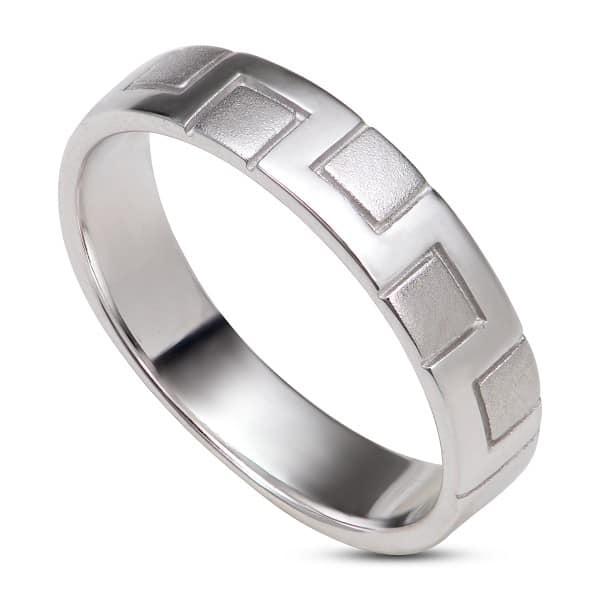 Nhẫn vàng trắng trơn cho nữ