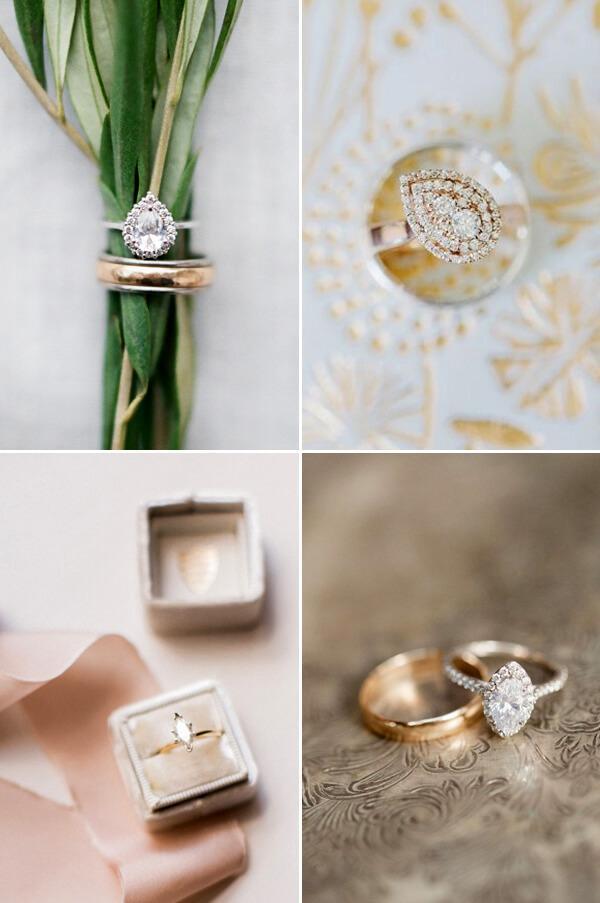 Mẫu nhẫn vàng hình hạt thóc hay quả lê