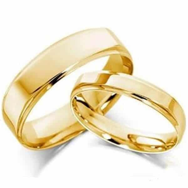 Hình ảnh nhẫn vàng cưới trơn truyền thống