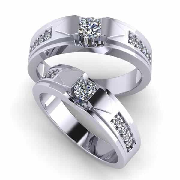 Hình ảnh nhẫn vàng trắng đẹp cho cặp đôi yêu thích sự tinh tế