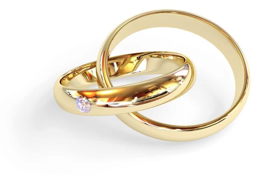 nhẫn đôi vàng tây 10k