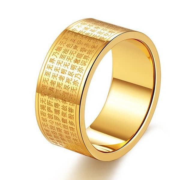 Nhẫn nam vàng tây thanh lịch