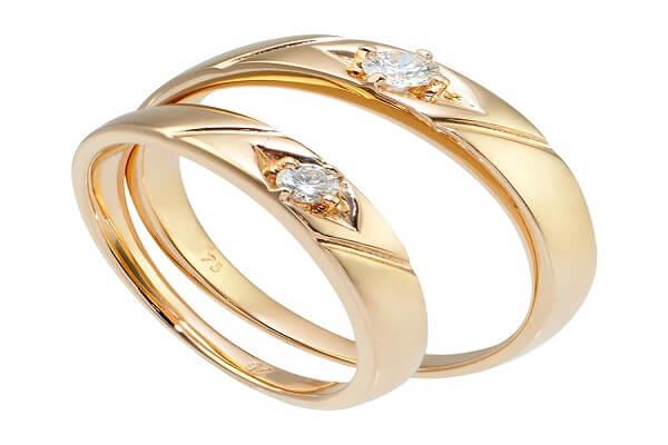 Nhẫn cưới chung đôi vàng 18k