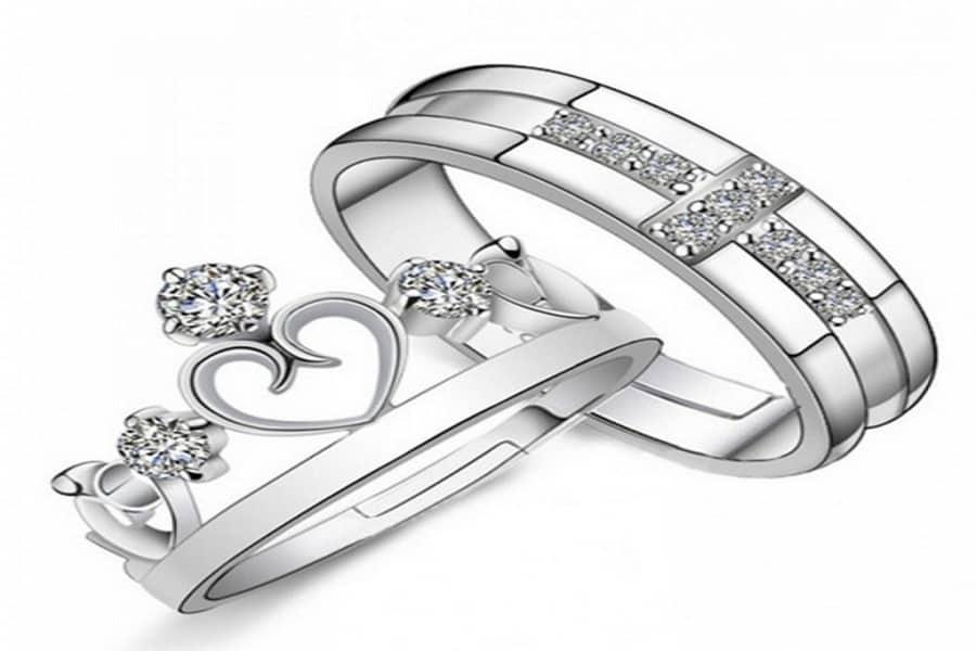 nhẫn đôi vàng trắng