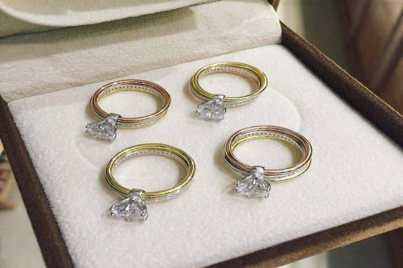 Kinh nghiệm chọn mua nhẫn vàng tây đính đá đẹp