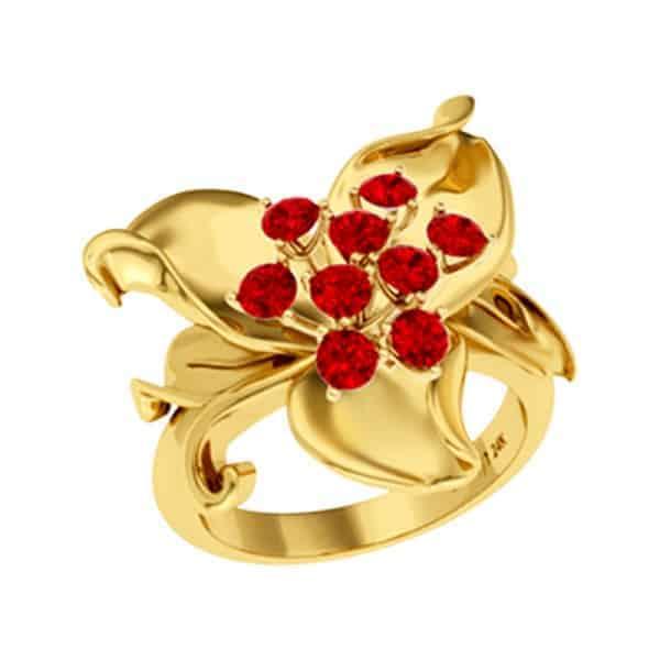 Mẫu nhẫn hình hoa đặc sắc