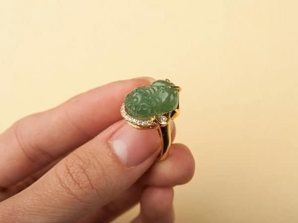 Mẫu nhẫn vàng tỳ hưu độc đáo
