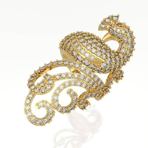 Mẫu nhẫn vàng tây chế tác hình công