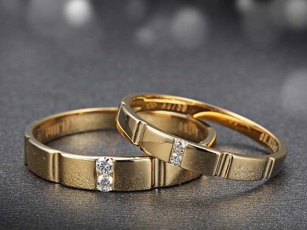 Nhẫn vàng cặp 18k kiểu dáng đẹp