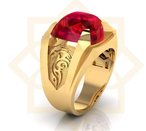Mẫu nhẫn vàng tây 18k hình rồng cho nam