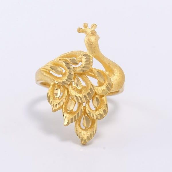 Mẫu nhẫn chạm khắc hình phượng cho phái đẹp