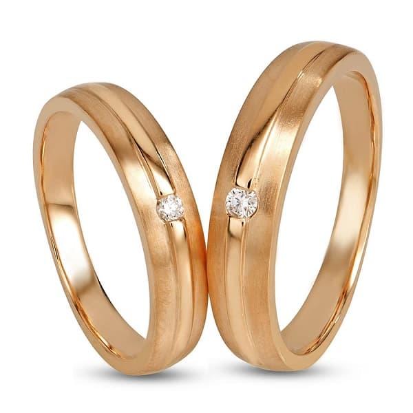 Nhẫn vàng cặp chung đôi vàng 18k