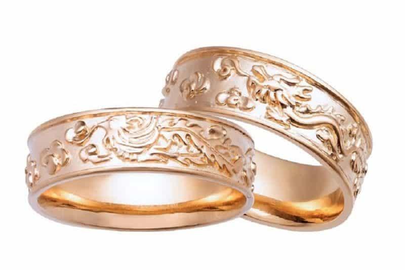 Nhẫn vàng tây 18k đẹp cho nam và nữ giới
