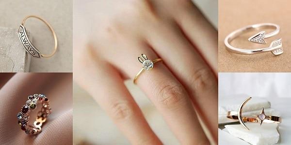 Nhẫn vàng tây cho cô nàng yêu thích sự năng động, hiện đại