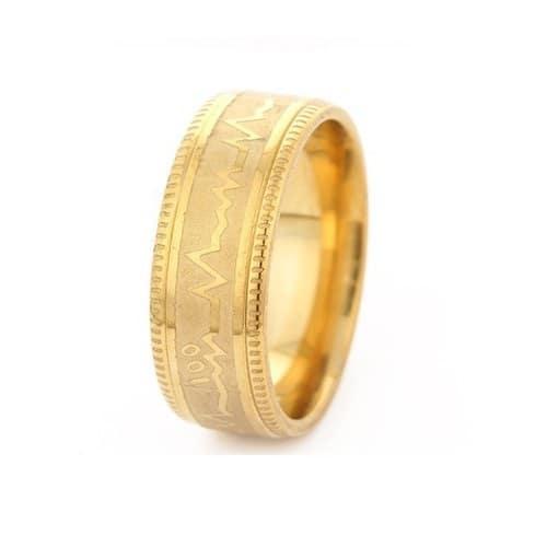Mẫu nhẫn vàng tây trơn chạm khắc tinh tế