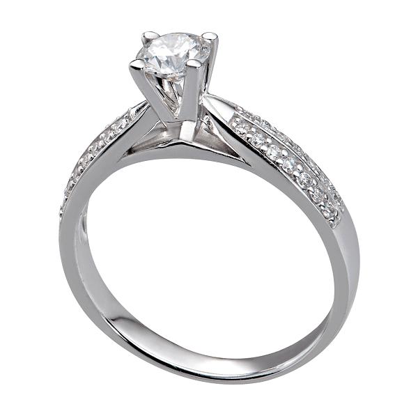 Mẫu nhẫn kiểu vàng trắng đính kim cương
