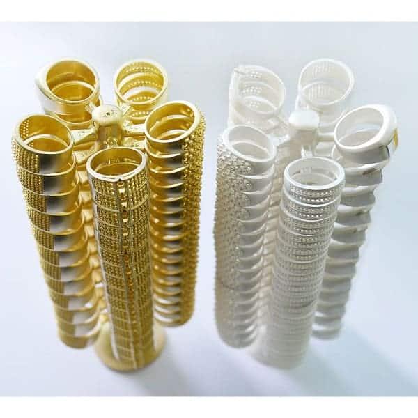 Nhẫn vàng trang sức đa dạng chất liệu vàng khác nhau như: Vàng ta, vàng tây, vàng trắng,...