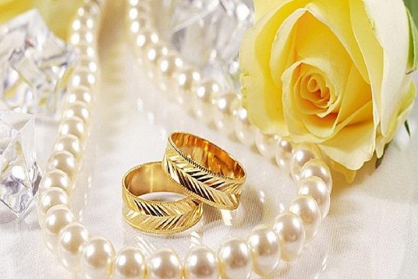 Cặp nhẫn vàng tây đẹp họa tiết