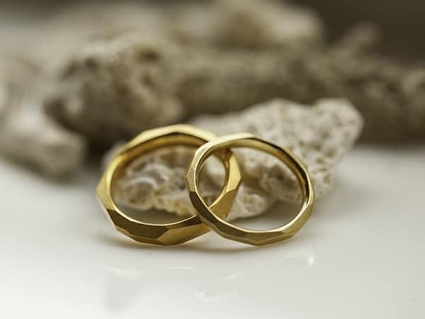 Cặp nhẫn đôi vàng tây trơn khắc viền