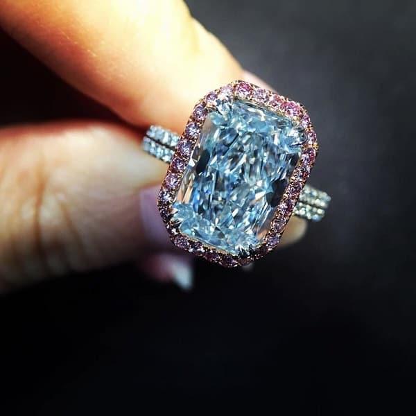Nhẫn cưới cao cấp Bulgari Blue