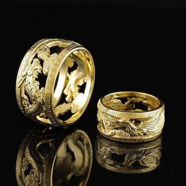 Nhẫn cưới rồng phượng một trong những bộ sưu tập nhẫn cưới ấn tượng