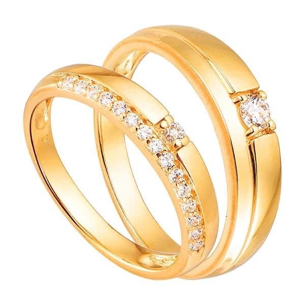 Mẫu nhẫn đính đá kiểu đơn giản