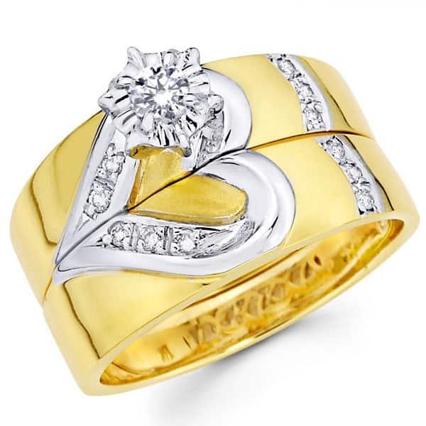 Mẫu nhẫn cưới độc đáo hai nửa trái tim