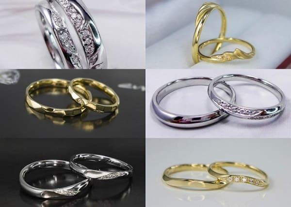 Chọn mua nhẫn cưới ở cửa hàng cung cấp đa dạng kiểu dáng, chất liệu sản phẩm.