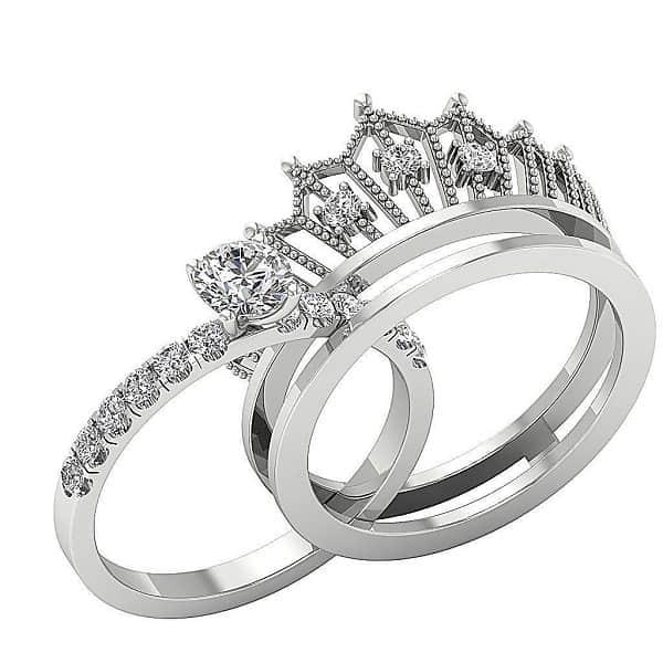 Nhẫn cưới hình vương miệng sang trọng