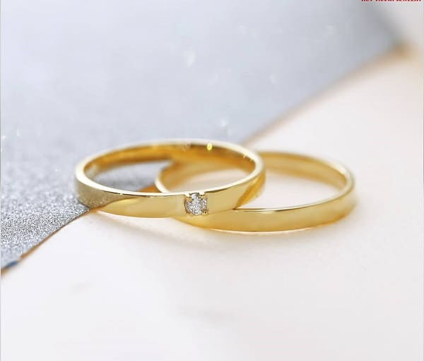 kiểu nhẫn cưới đơn giản