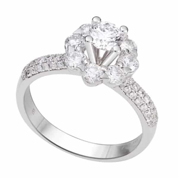 Các mẫu nhẫn vàng trắng đẹp sang trọng