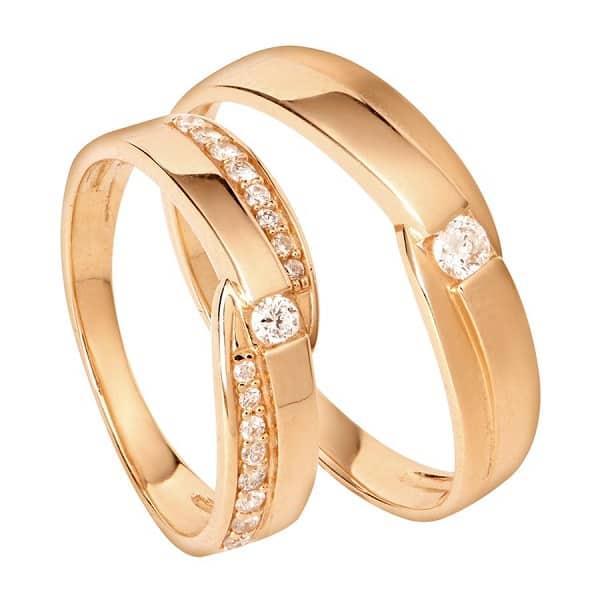 Cặp nhẫn vàng 18k chung đôi spd1809411