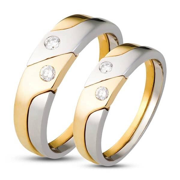 Nhẫn cưới vàng 18k đính kim cương spd1809432
