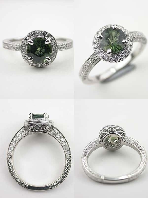 Mẫu nhẫn cưới gắn đá quý